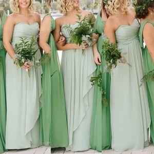f2b1d4fd797 David s Bridal Dresses - Meadow Green Strapless Long Dress